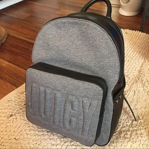 Juicy Couture Aspen Zippy Backpack Grey/Grainy New